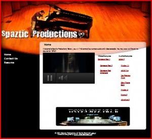 SpazticProductions.com - portfolio thumbnail