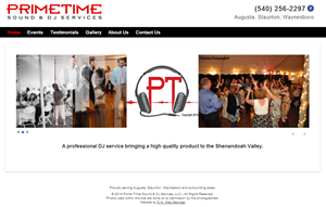 PrimeTimeSoundNDJ.com - portfolio thumbnail